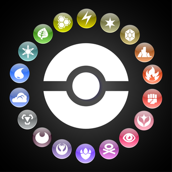 Pokemon Types Wheel by kamionero