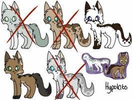 Wolfsong and Finflight hypos! *AUCTION* by Gingerblazee
