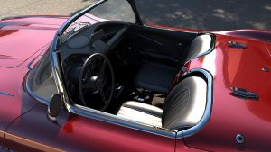 Chevrolet 1960 Corvette C1 interior by melkorius