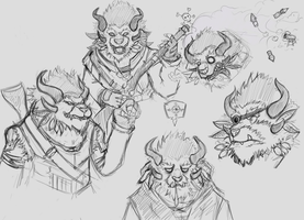 Volimar Charr Sketches by KaidoGear