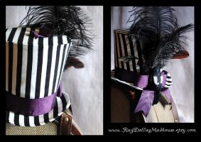 Striped Top Hat by RagDolliesMadhouse