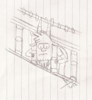 Thomas is stuck on the railings XD by abrilmazziotti