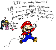 Mario in most fanfics by Legendathecity