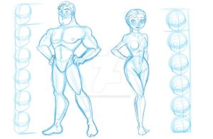 Buzz and Jessie Human reference sheet by TheSpaceCowgirl