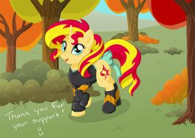 Sweater Weather Sunset Shimmer by HollyIvyDesigns