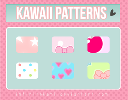 Kawaii Patterns for Photoshop by InfiniteKami
