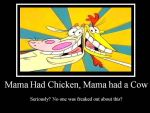 Cow and Chicken by Purple-Dawn-Goddess