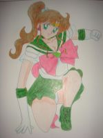 Super Sailor Jupiter really to fight by silvermoonmagic