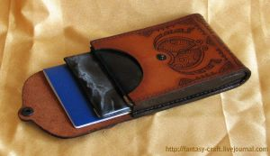 Leather  Documents purse BugZz by Fantasy-Craft