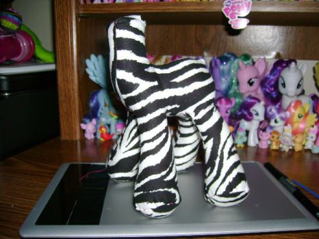 Pony Plushie Zebra (In Progress) by ShyraWolf