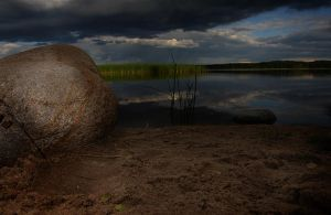 Stones at the lake by edips