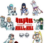 Kill la Kill pixelart - Student council by Frario