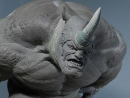 Rhino Sculpture 1 by loqura