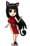 Raissa chibi pixel commission by DannyC8