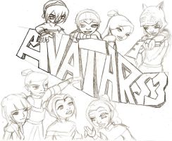 Avatar Season 3 sketch by lilfirebender