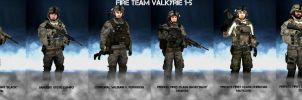 US Marine Recon Fire-Team: Valkyrie 1-5 by Kommandant4298