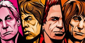 The Rolling Stones by pepscee