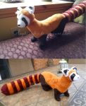 Pabu the Fire Ferret Plushies! by PastYourPorchlight