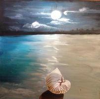Seascape With Shell by WrenArt