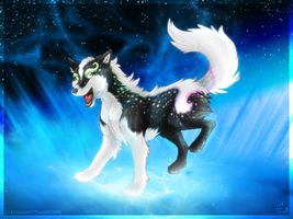 Happy Sparkle Wolf by ThorinFrostclaw