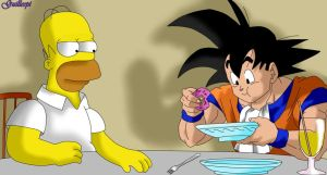 homero y goku by guilleapi
