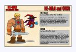 He-Man and Orko - Character Designs by shubcthulhu