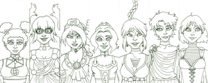 Daughters of the Gods - Lineart