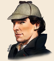 The clever detective in the funny hat (Sherlock) by Shuploc