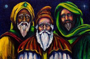 Portrait of the Three Wise Men by Kevinrichardfineart