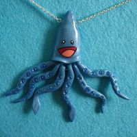 Syd the Squid Necklace by Mimi-Mushroom