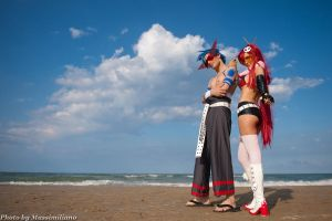 Yoko Ritona and Kamina by Eyes-0n-Me