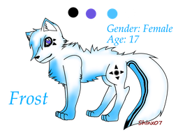 Frost the wolf :REF: by Shinx07