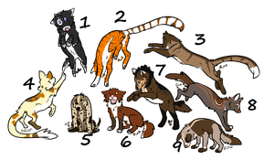 Mix adoptables ( 1 left) by NiaWolf15