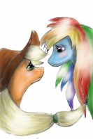 Apple Jack and Rainbow Dash by LyudmilaPromyslova