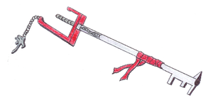 Shimura's keyblade by The-lord-of-darkness