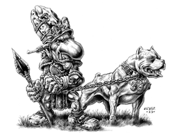 Goblin K-9 Soldier with Pit by vikingmyke