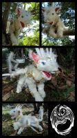 Etherial - OOAK Handmade Poseable Dragon Guardian by SonsationalCreations