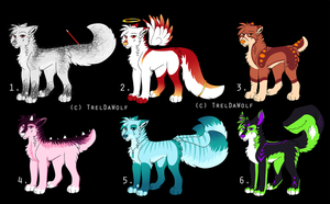 Canine/Mixed adoptables~ (auction) by TrelDaWolf