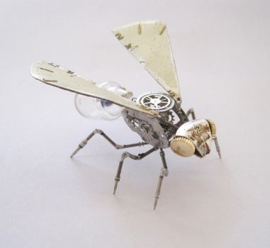 Watch Parts Wasp Sculpture 'Wasp No 3' by AMechanicalMind