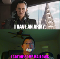 Loki VS. Markiplier: I Got Me Some Mallows by WorldwideImage