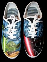 Star Wars themed shoes 1 by LovelyAngie