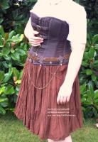 Brass and Copper Chainmail Belt - Display Outfit 2 by ulfchild