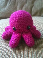 Magenta Octopus by tape-artist