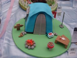 camping tent cake by returnofadamspong