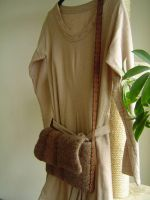 felted handbag with woven belt by were-were-wolfy
