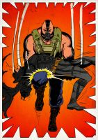 Bane Breaks Batman by Mleeg-Art