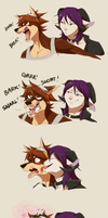 How to Calm Down Your Angry Dog Boyfriend by DragginCat