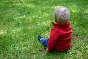 Baby in the Grass 4 by ArtistStock