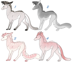 Panther Hound Adoptables 8 OPEN by NakkAdoptables