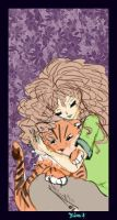 Sleeping with tiger by Kira666Y